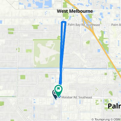 190 Malabar Rd SW, Palm Bay to 132 Malabar Rd SW, Palm Bay