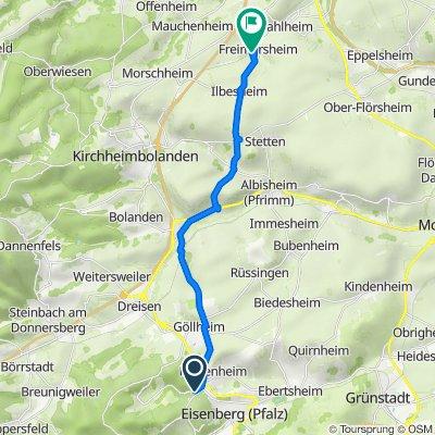 K78, Kerzenheim nach Schloßwiese 12, Freimersheim