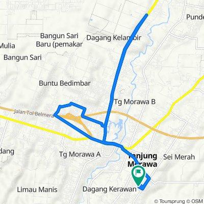 Jalan Pancasila 84, Tanjung Morawa to Jalan Pancasila 84, Tanjung Morawa