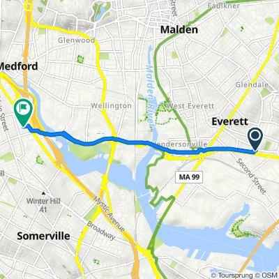 211 Chelsea St, Everett to 104 Golden Ave, Medford