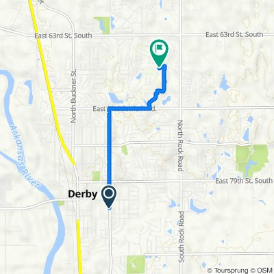 175–245 S Woodlawn Blvd, Derby to 1582–1586 E Tall Tree Rd, Derby