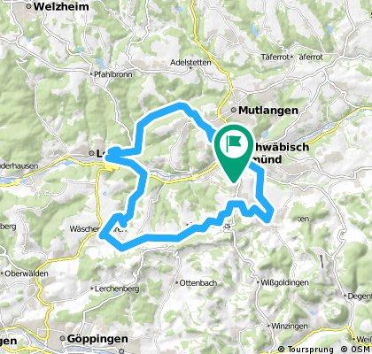 Taubental-Kloster Lorch-Wäschenbeuren- Waldstetten-Schwäbisch Gmünd
