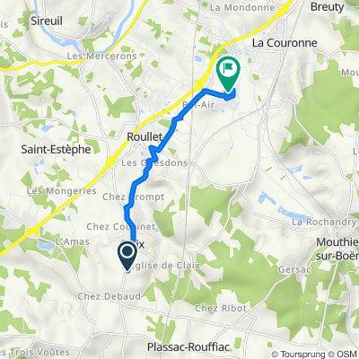 De 4 Allée du Four Gatine, Claix à 26 La Goujarde, Roullet-Saint-Estèphe