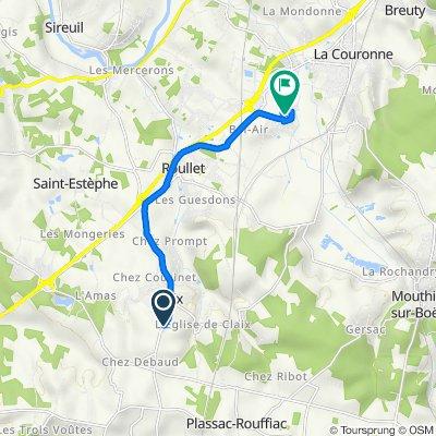 De 2 Allée du Four Gatine, Claix à 25 La Goujarde, Roullet-Saint-Estèphe