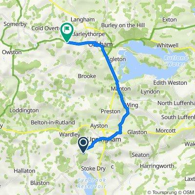 66 Stockerston Road, Stockerston, Oakham to Glebe Farm House, 7 Cold Overton Road, Oakham