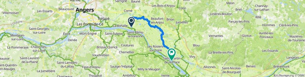De 7 Rue du Bec, Saint-Mathurin-sur-Loire à Rue du Port, Saint-Martin-de-la-Place
