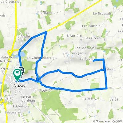 De 7bis Route de Rennes, Nozay à 4 Rue de la Ferrière, Nozay