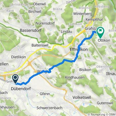 Florastrasse, Dübendorf nach Hombergstrasse, Illnau-Effretikon