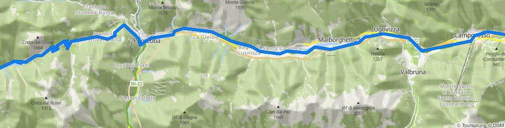 Da Via Armando Diaz 11, Tarvisio a Strada Provinciale 112, Moggio Udinese