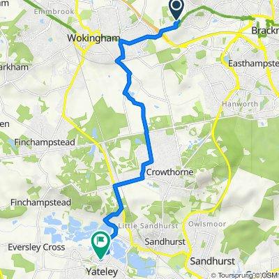 5 Bonsey Lane, Bracknell to 46 Village Way, Yateley