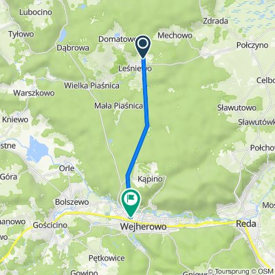 Okrężna 21, Leśniewo do Hieronima Derdowskiego 7, Wejherowo