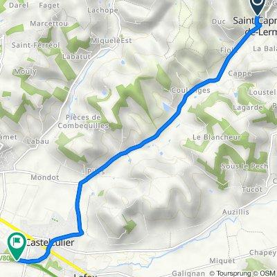 De 178 Chemin de Loubas, Saint-Caprais-de-Lerm à 764 Lascarbonières, Boé