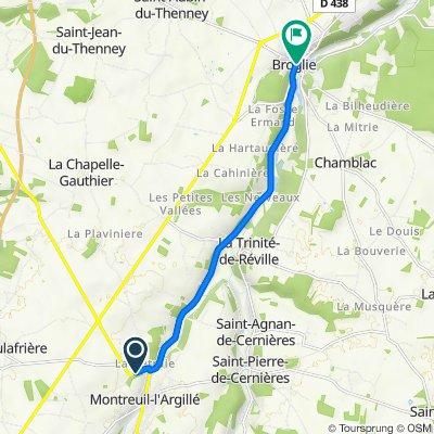 De Route d'Orbec 8, Montreuil-l'Argillé à Broglie
