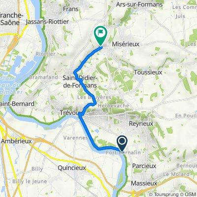 De 311 Chemin du Port Bernalin, Reyrieux à 65bis Montée du Cimetière, Sainte-Euphémie