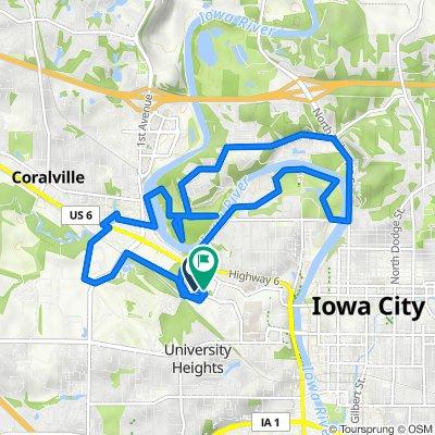 Hawkins Drive 730, Iowa City to Hawkins Drive 730, Iowa City