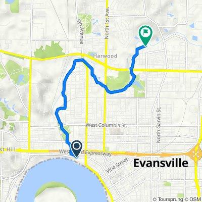 1089–1323 Ohio St, Evansville to 2806 N Heidelbach Ave, Evansville