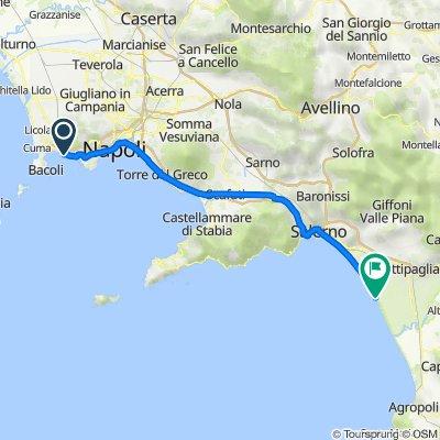 Via Carlo Maria Rosini 26, Pozzuoli nach Via Litoranea Salerno Paestum 21, Battipaglia