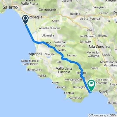 Via Litoranea Salerno Paestum 21, Battipaglia nach Via Nazionale 8, Policastro Bussentino