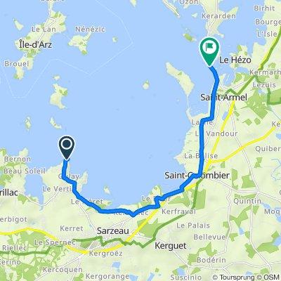 De Route de la Pointe du Ruault, Sarzeau à 63 Route du Passage, Saint-Armel