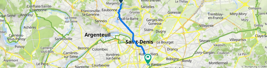 De 22 Rue des Chardonnerets, Soisy-sous-Montmorency à Rue des Écluses, Paris
