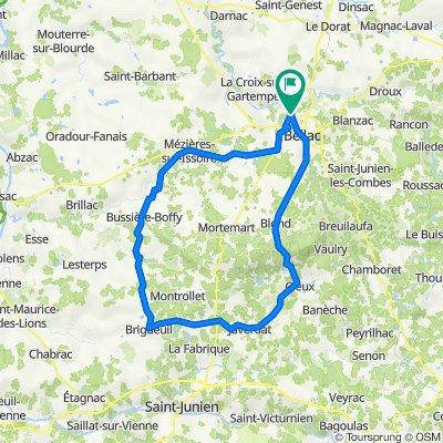 De Impasse des Lauriers 7, Peyrat-de-Bellac à Rue de la Colline 21, Peyrat-de-Bellac