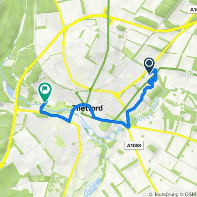 Green Lane, Kilverstone, Thetford to Canterbury Way, Thetford