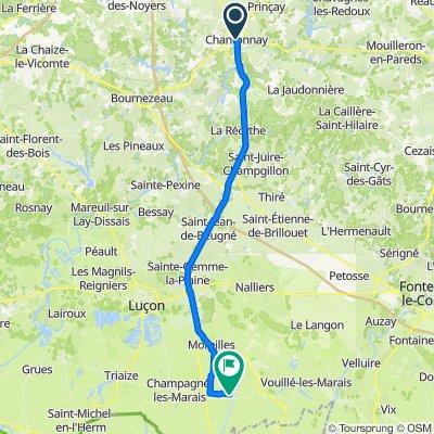 De 8 Parvis Saint-Pierre, Chantonnay à 2–2B Rue de la Voie, Sainte-Radégonde-des-Noyers