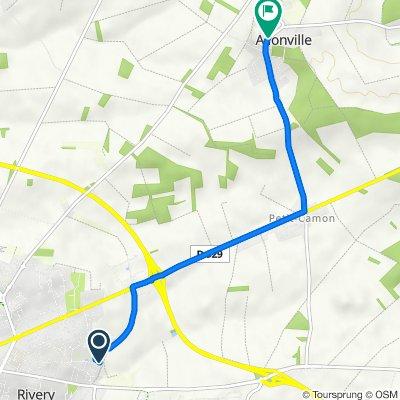 De 20 Rue Paule Roy, Rivery à 2 Rue du Bout de Ville, Allonville