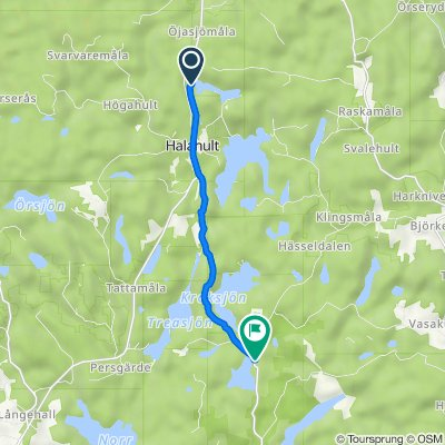 Gamla Halasjövägen, Trensum nach Törnerydsvägen 684, Trensum