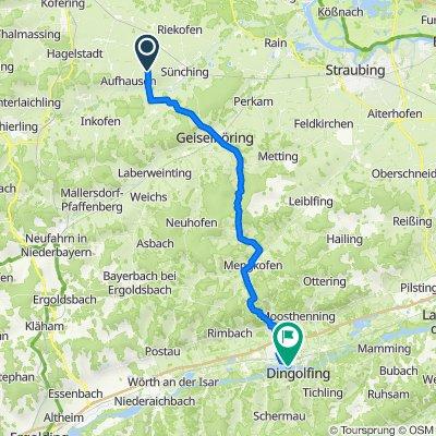 Niederhinkofen, Aufhausen nach Gobener Weg, Dingolfing
