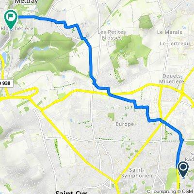 De 14 Rue Paul Cézanne, Tours à D76, Mettray