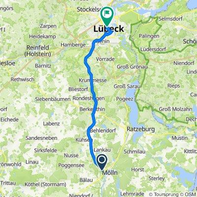 Route nach Mengstraße 62, Lübeck