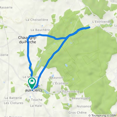 De Rue de Vendôme 2, La ville-aux-Clercs à Rue de Vendôme 2, La ville-aux-Clercs
