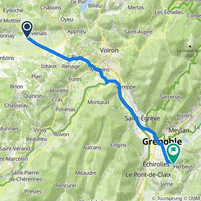 De 510 Route de Grenoble, La Frette à 522–558 Ancienne Route Napoléon, Brié-et-Angonnes