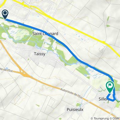 De Zone Industrielle Sud Est, Reims à 2ter Rue de la Vesle, Sillery