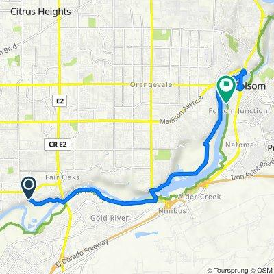 River Dr, Fair Oaks to American River Bike Trail, Folsom