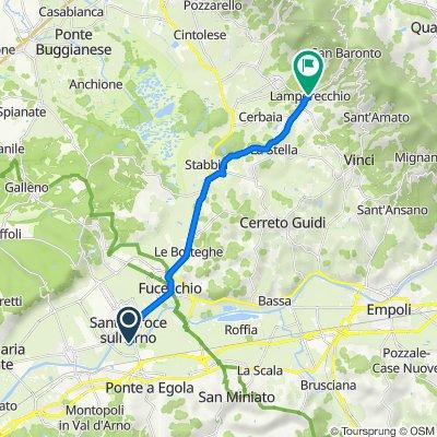 Da Via Giovan Battista Pergolesi 1, San Donato a Via Giuseppe Verdi 2, Lamporecchio