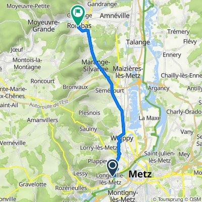De 8 Rue des Chenets, Longeville-lès-Metz à 2–4 Rue de Villers, Rombas