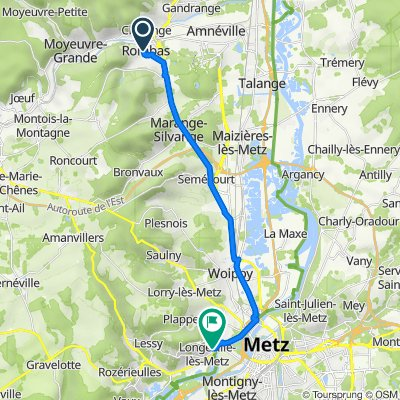 De 2–4 Rue de Villers, Rombas à 8 Rue des Chenets, Longeville-lès-Metz
