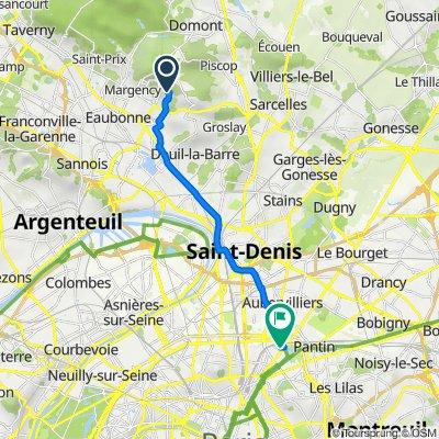De 63B Chemin des Laitières, Soisy-sous-Montmorency à 25 Passage de la Bauxite, Paris