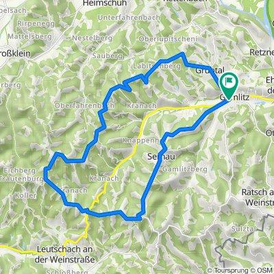 """Genussradeln - Weinstraßentour Variante 3 - """"Kranachberg-Sernauberg"""""""