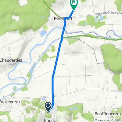 2 Rue de la Porte Saint-Pierre, Roucy to Rue Saint-Médart, Pontavert