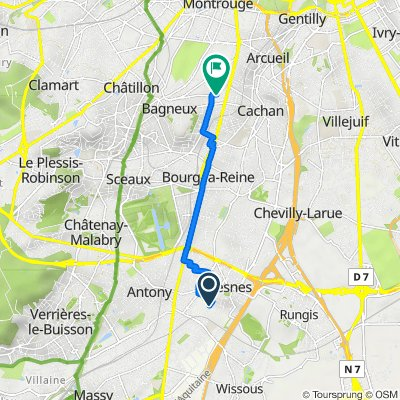 Chemin de Massy à Fresnes, Antony to 145 Rue des Meuniers, Bagneux