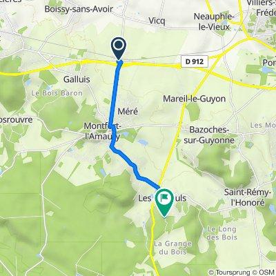 11 Route de la Bardelle, Méré to Rue Neuve, Les Mesnuls