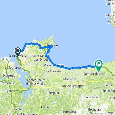 De 2–20 Quai du Val, Saint-Malo à 9 Narbonne, Saint-Marcan