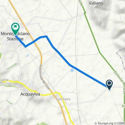 Route von Via del Lago 20–24, Montepulciano
