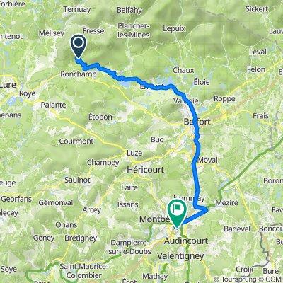 De 891 Chemin du Gotty, Ronchamp à 46 Rue Cuvier, Exincourt