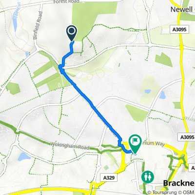 Route to Winchester House, Bond Way, Bracknell