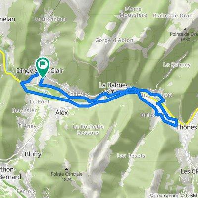 De Route de Provenat 138, Dingy-Saint-Clair à Route de Provenat 170, Dingy-Saint-Clair