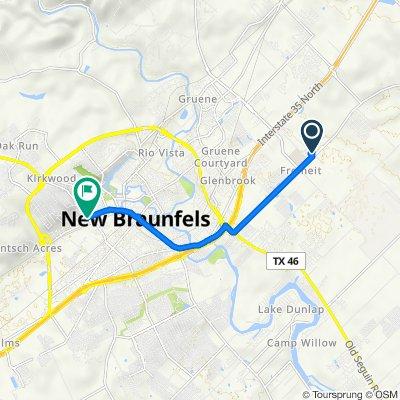 2980 Creek Bend Dr, New Braunfels to 598 Landa St, New Braunfels